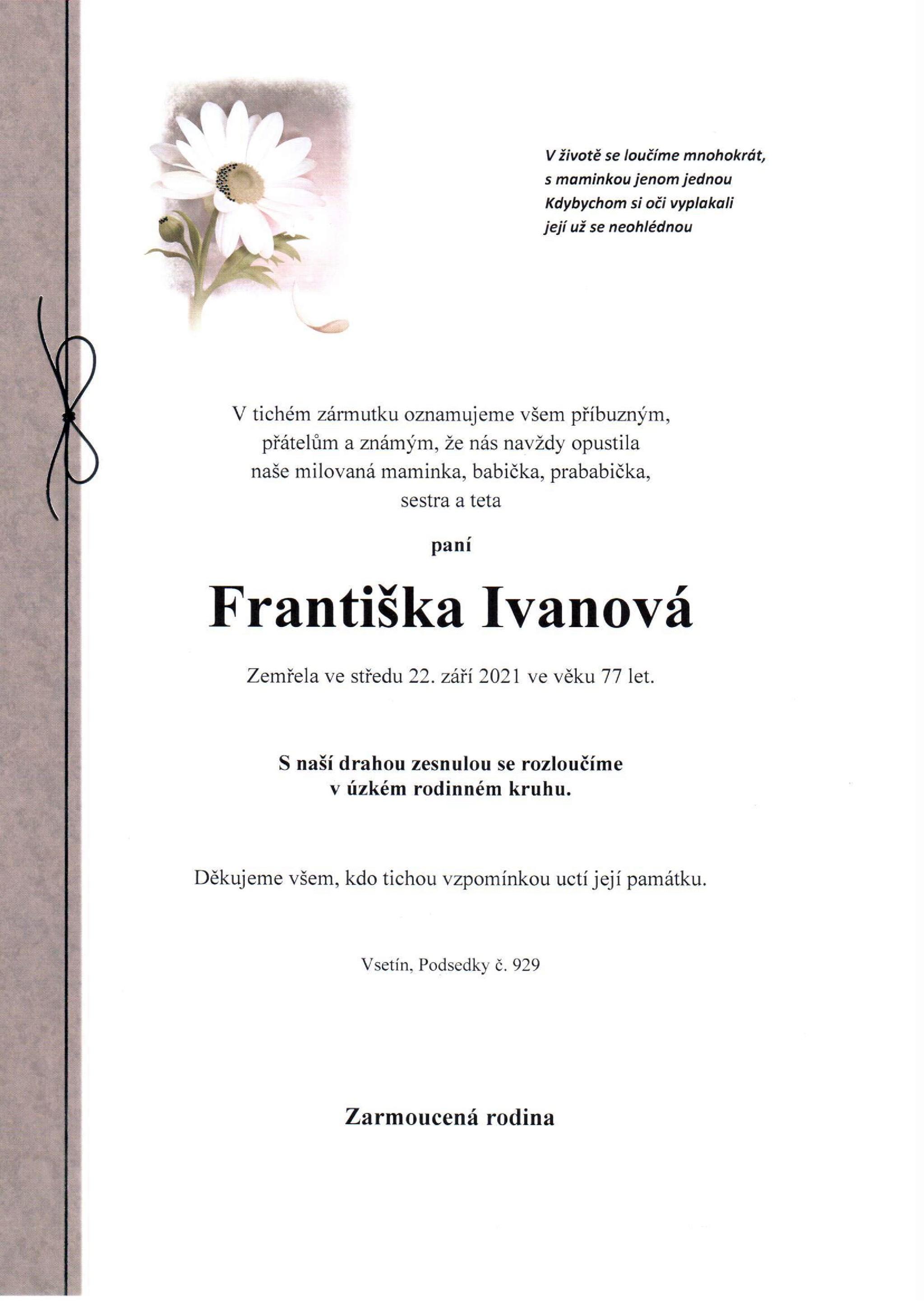 Františka Ivanová