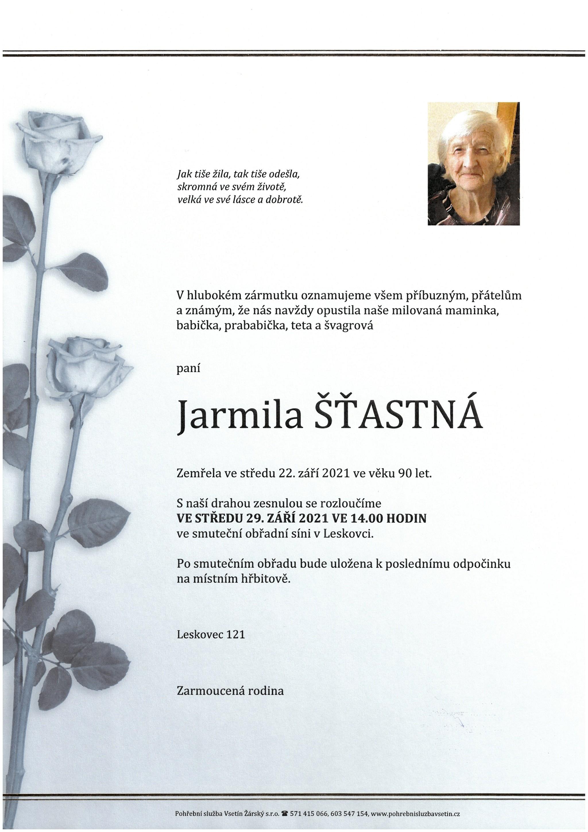 Jarmila Šťastná