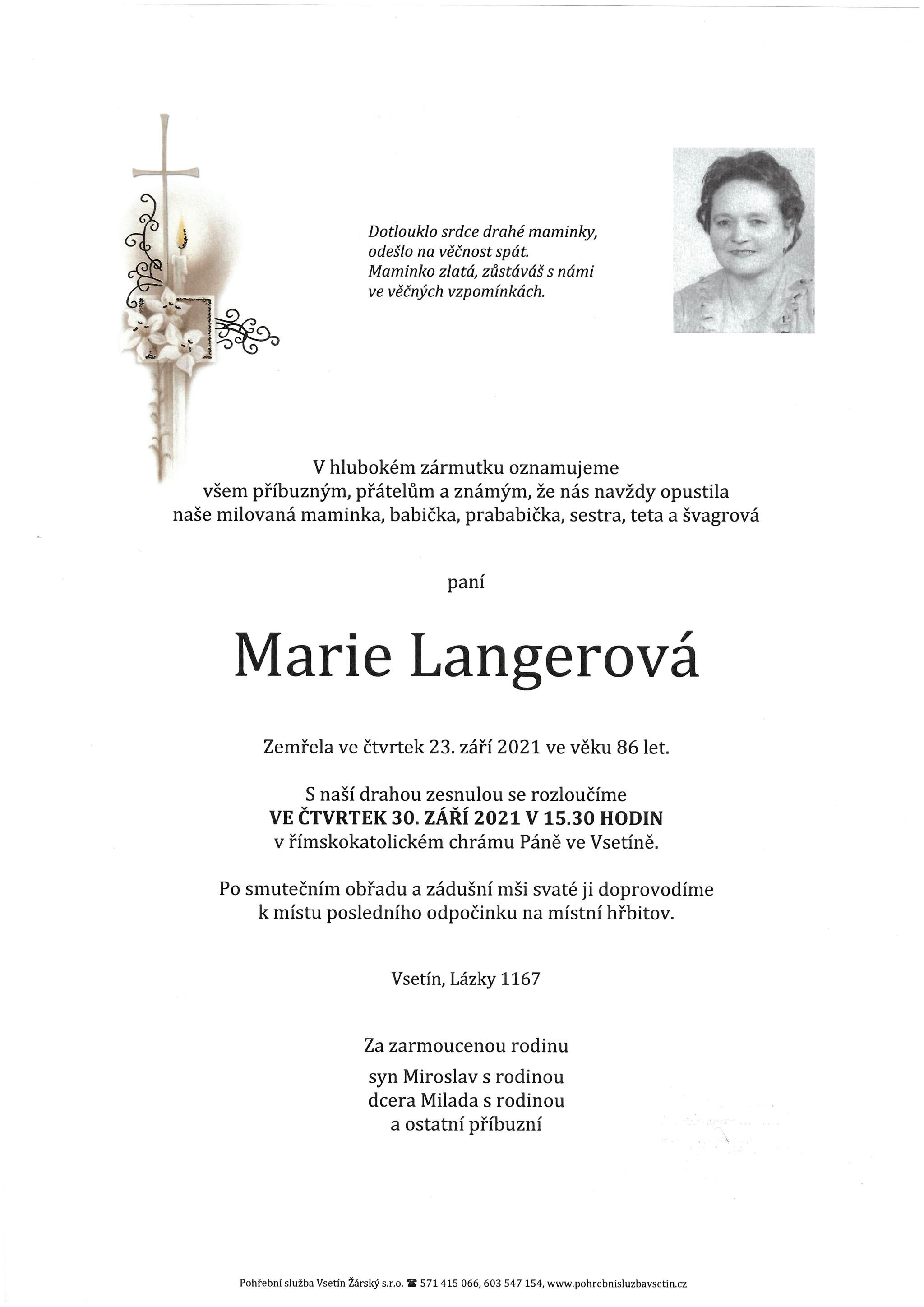 Marie Langerová